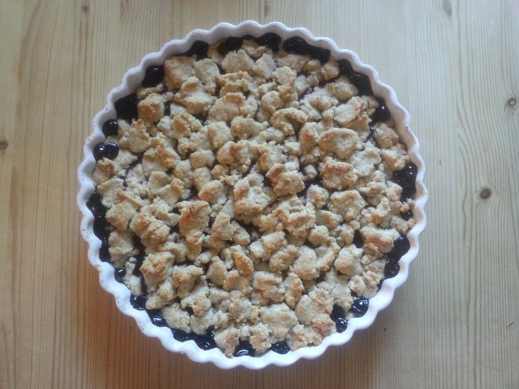 God och frasig blåbärspaj