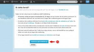 Avsluta Twitter 3