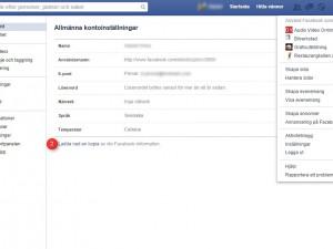 Facebook inaktivering bild 1
